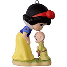 Hallmark Keepsake 2017 Precious Moments Disney Snow White and Dopey Porcelain Christmas Ornament
