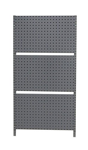 Storability 1787 33'' L x 63'' H LocBoard Wall Mount Storage System with Three LocBoards, Grey by Storability