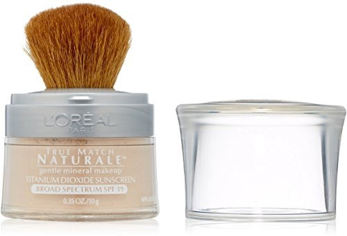 L'Oreal True Match Naturale Mineral Foundation, Soft Ivory [456], 0.35 oz (Pack of 3)