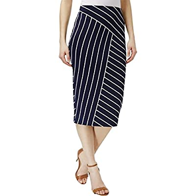 Alfani Womens Printed Striped Pencil Skirt