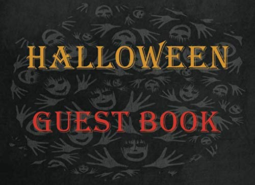 Halloween Guest Book: features many scary spirits on the cover with spider and bat in the interior