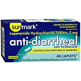 Sunmark Anti-Diarrheal Caplets - 48 ct, Pack of 5