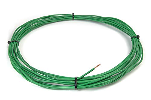 AG Cables Solid Copper Green Grounding Wire Ground Protection Satellite Dish over-the-air OTA TV Signal UV Jacketed - 25ft