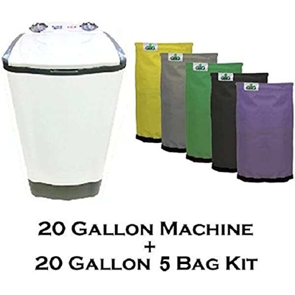 Amazon Com 20 Gallon Bubble Magic Washing Machine Grow1 Ice Hash Extraction 5 Bags Kit Outdoor Kitchen Ice Machines Garden Outdoor