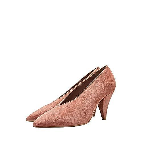 6ca8879d25024 next Mujer Zapatos De Salón De Piel con Tacón Cónico Chic - www ...