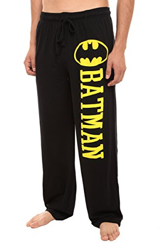 Hot Topic DC Comics Batman Guys Pajama Pants, Black, Large -