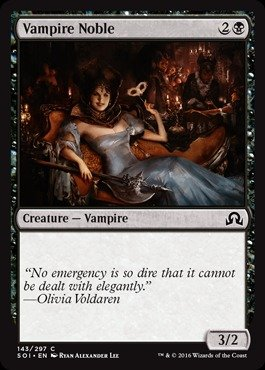 Magic: the Gathering - Vampire Noble (143/297) - Shadows Over Innistrad