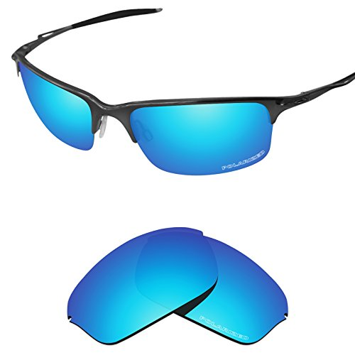 Replacement Lenses for Oakley Half Wire 2.0 Sunglass Polarized Etched-Sky Blue ()