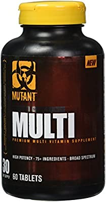MUTANT MULTI - Premium Multivitamin For Men with Phytonutrients, Electrolytes, Enzymes, Spirulina & More, 60 Tablets