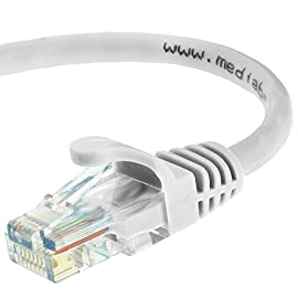 Mediabridge Ethernet Cable (10 Feet) - Supports Cat6 / Cat5e / Cat5 Standards, 550MHz, 10Gbps - RJ45 Computer Networking Cord (Part# 31-299-10B) 2 CAT6 / CAT5e: Supports both Cat6 and Cat5e applications. The RJ45 connector used for this cable fits perfectly in both Cat6 and Cat5e ports. CAPABILITY: Mediabridge Cat 6 cables can support up to 10 Gigabits per second (10 times the bandwidth of Cat5e cables). Meets or exceeds Category 6 performance in compliance with the TIA/EIA 568B.2 standard. Backwards compatible with any existing Fast Ethernet and Gigabit Ethernet. CERTIFIED: This Mediabridge Cat6 Ethernet cable with CM Grade PVC Jacket is UL Listed, complies with TIA/EIA 568B.2 and adheres to ISO/IEC 11801. APPLICATIONS: High bandwidth of up to 550 MHz guarantees high-speed data transfer for server applications, cloud computing, video surveillance and online high definition video streaming.