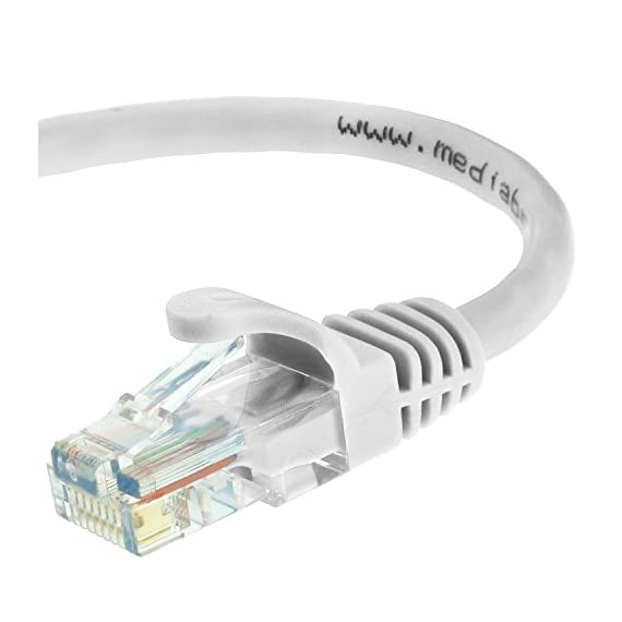 Mediabridge Ethernet Cable (25 Feet) - Supports Cat6 / Cat5e / Cat5 Standards, 550MHz, 10Gbps - RJ45 Computer Networking Cord (Part# 31-299-25B) 1 CAT6 / CAT5e: Supports both Cat6 and Cat5e applications. The RJ45 connector used for this cable fits perfectly in both Cat6 and Cat5e ports. CAPABILITY: Mediabridge Cat 6 cables can support up to 10 Gigabits per second (10 times the bandwidth of Cat5e cables). Meets or exceeds Category 6 performance in compliance with the TIA/EIA 568B.2 standard. Backwards compatible with any existing Fast Ethernet and Gigabit Ethernet. CERTIFIED: This Mediabridge Cat6 Ethernet cable with CM Grade PVC Jacket is UL Listed, complies with TIA/EIA 568B.2 and adheres to ISO/IEC 11801. APPLICATIONS: High bandwidth of up to 550 MHz guarantees high-speed data transfer for server applications, cloud computing, video surveillance and online high definition video streaming.