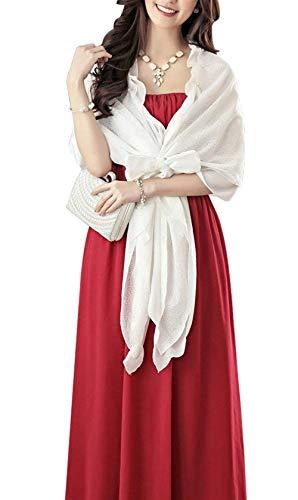 Lindo Color Poncho Rosario Chic Estolas Sólido Elegantes Bonita Chal Señoras De Mujer con Blanco con Bufanda Volantes Moda Hipster Lazo Hipster Informales wqznO86S