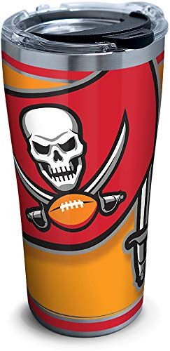 (Tervis 1281930 NFL Tampa Bay Buccaneers Color Rush Blaze Stainless Steel Insulated Tumbler with Clear and Black Hammer Lid 20oz)