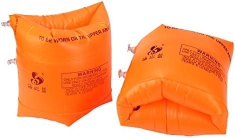 yode sity 1 par infantil hinchable Manguitos Soft Pulsera Floating flotador para piscina principiantes Seguridad naranja naranja