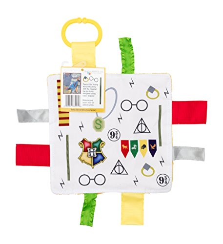 Baby Sensory Crinkle & Teething Square Lovey Toy with Closed Ribbon Tags for Increased Stimulation: 8''X8'' (Wizard) by Baby Jack & Co