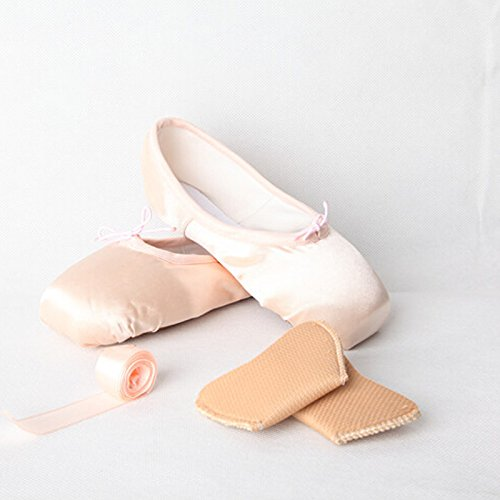 Women Pads Dance trade; Ballet and Girls Pink Pointe Shoe Shoes Ribbon with Toe Homieco HwE74xqw