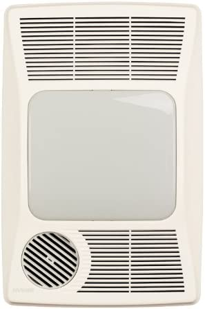 Broan-NuTone 100HFL Directionally-Adjustable Bath Fan with Heater and Fluorescent Light, White