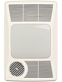 Bathroom Light With Heater And Fan: Broan 100HL Directionally-Adjustable Bath Fan with Heater and Incandescent  Light,Lighting