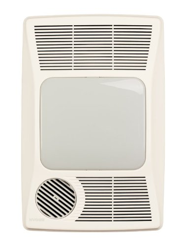 (Broan 100HFL Directionally-Adjustable Bath Fan with Heater and Fluorescent Light)