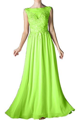 Sage A Chiffon lang Spitze Linie Festkleid Promkleid Rundkragen Ivydressing Beliebt Damen Abendkleid Brautjungfernkleid qEwH77X