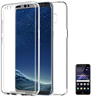 PLANETMOVIL ® Huawei P8 Lite 2017 Funda DE Silicona Delantera + Trasera RIGIDA Doble 100% Transparente: Amazon.es: Electrónica