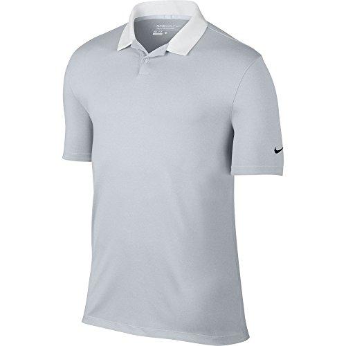 Nike Golf Men's Icon Polo, Birch Heather/Black, XL