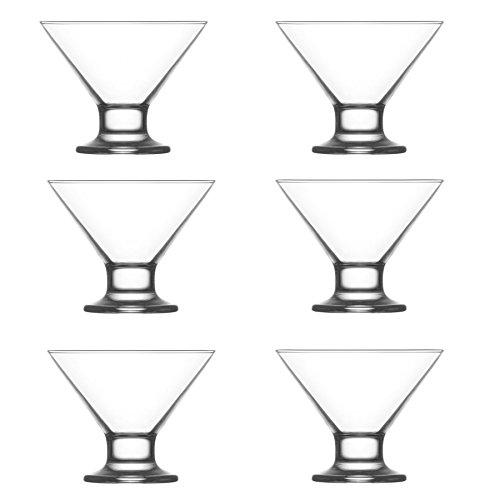 LAV Crema Glass Ice Cream Dessert Bowl - 165ml - Pack of 6 Serving Bowls Ice Cream Cups