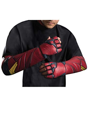 Rubie's Men's Justice League Flash Gloves, As Shown, One Size (Flash Mask Adult)