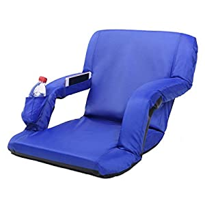 AceLife Stadium Seat Portable Reclining Bleacher Chair with Cup Holder and Phone Pocket from AceLife