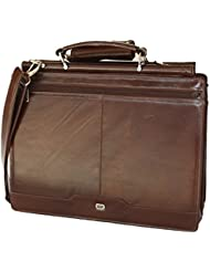 Leather briefcase by Yeti Leather, superior grain buffalo leather.Handcrafted by skilled artisans.