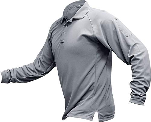 Vertx Coldblack Long Sleeve Performance Polo, Lt. Grey, X-Large