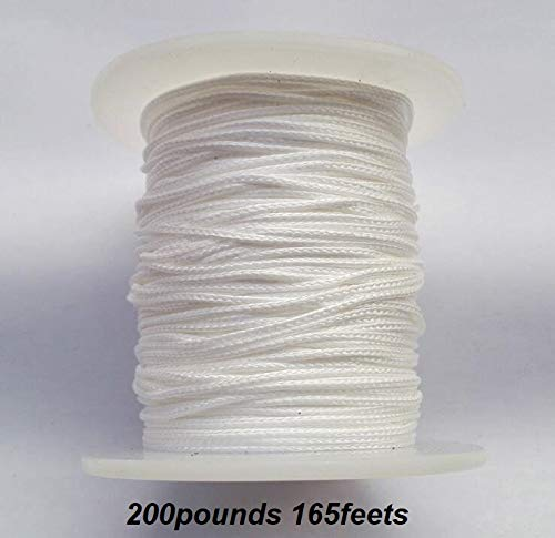 1PK 165ft/50m 200pounds Superpower 8 Strands Braided Dacron Bowfishing Line (White)