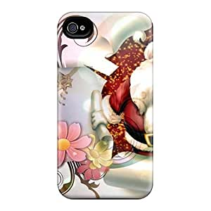 Durable Protector Case Cover With Xmas Postcard Hot Design For Iphone 4/4s