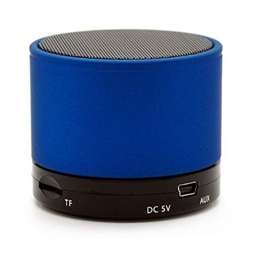 Amazon.com: Soundworx Mini Bocina Portable AZUL con Bluetooth, Reproductor de Audio Inalambrico con Microfono, Radio FM y Entrada de Tarjeta TF para iPhone, ...
