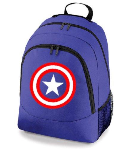 Capitán América superhéroe mochila escolar bolsa de deporte