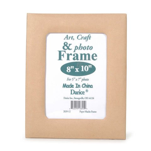 Darice Bulk Buy DIY Crafts Paper Mache Easel Back Frame Rectangle 8 x 10 inches (3-Pack) (Paper Mache Picture Frame)