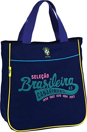 Bolsa Shopping Bag Seleção Canarinho Média 01 Bolso Sortida - Luxcel