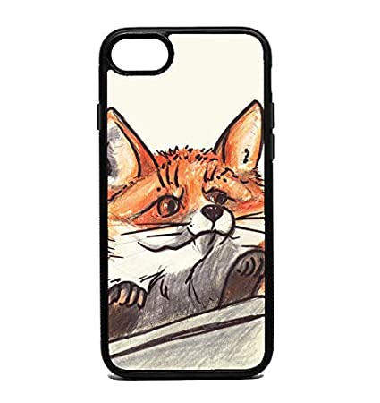Amazon.com: Phone Case Funny Curious Red Fox Looks from ...