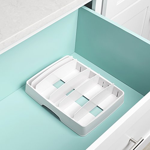 YouCopia 50100 StoraLid Food Container Lid Organizer, Large, White
