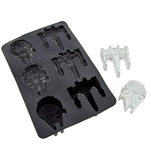 - Underground Toys Star Wars Millennium Falcon and X-Wing Fighter Silicone Ice Tray