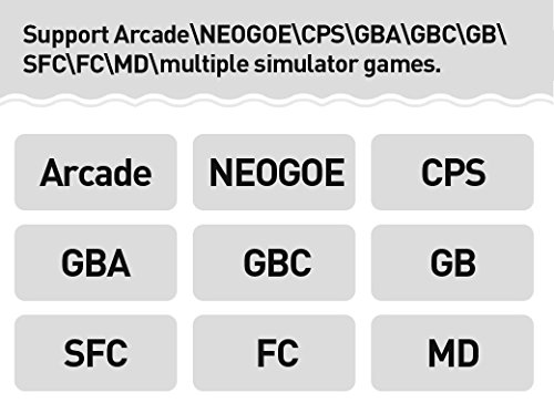 New CZT 4.3 inch 8GB Video Game Console build in 1200+ games for Arcade NEOGEO/CPS/FC/SFC/GBA/GBC/GB/SMC/SMD/SEGA Handheld Game Console game Player video music Ebook (Black) by CZT (Image #7)