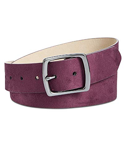 Plum Suede Leather - INC International Concepts Faux-Suede Belt (Plum, Large)