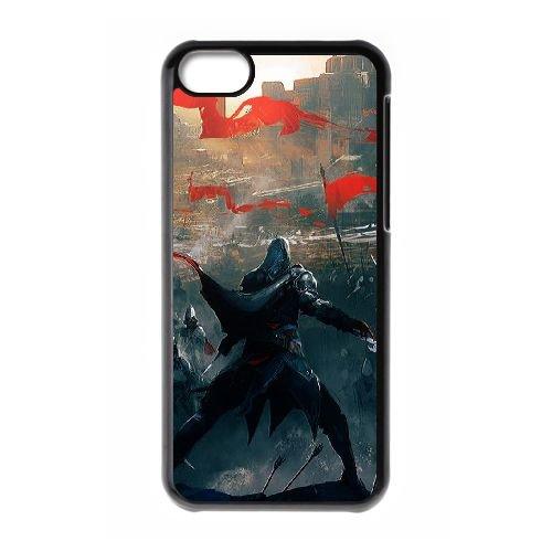 Ezio Auditore Da Firenze 010 coque iPhone 5C Housse téléphone Noir de couverture de cas coque EOKXLLNCD15684