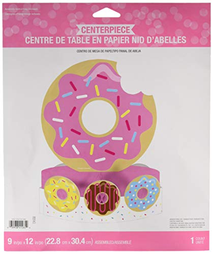Creative Converting 324235 Donut Party Centerpiece, 12
