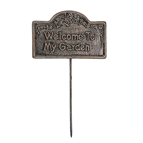 - Oakland Living Decorative Garden Marker, Welcome to My Garden, Antique Bronze
