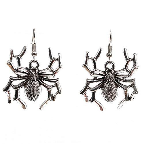 CHoppyWAVE Halloween Earrings 1Pair Jewelry Gift Skeleton Hand Spider Pendant Dangle Hook Earrings - Spider ()