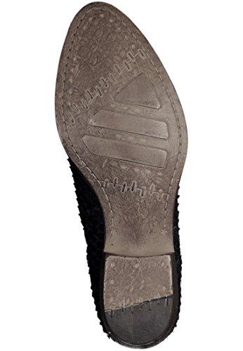 Botas de cuero Tamaris en reptiles Acabado Negro 1-25340-27 001 Negro Schwarz