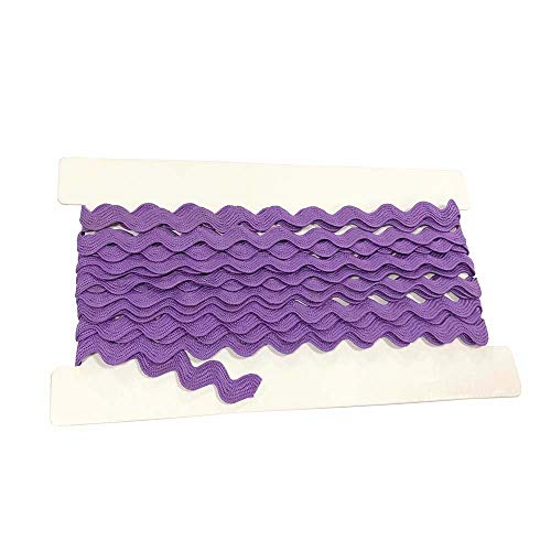 Rick Rack Trim 12mm Width Polyester Baby Ric Rac Trim Purple, 5M per Cards