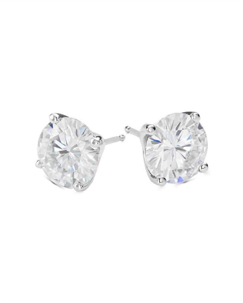 Forever One 5.0mm Round Moissanite Stud Earrings, 1.00cttw DEW (D-E-F) By Charles & Colvard