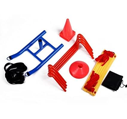 55b28f4c3 Amazon.com : Speed Training Kit Ladder Hurdles Cones Markers Sled Agility  Discs Weight Sled : Sports & Outdoors